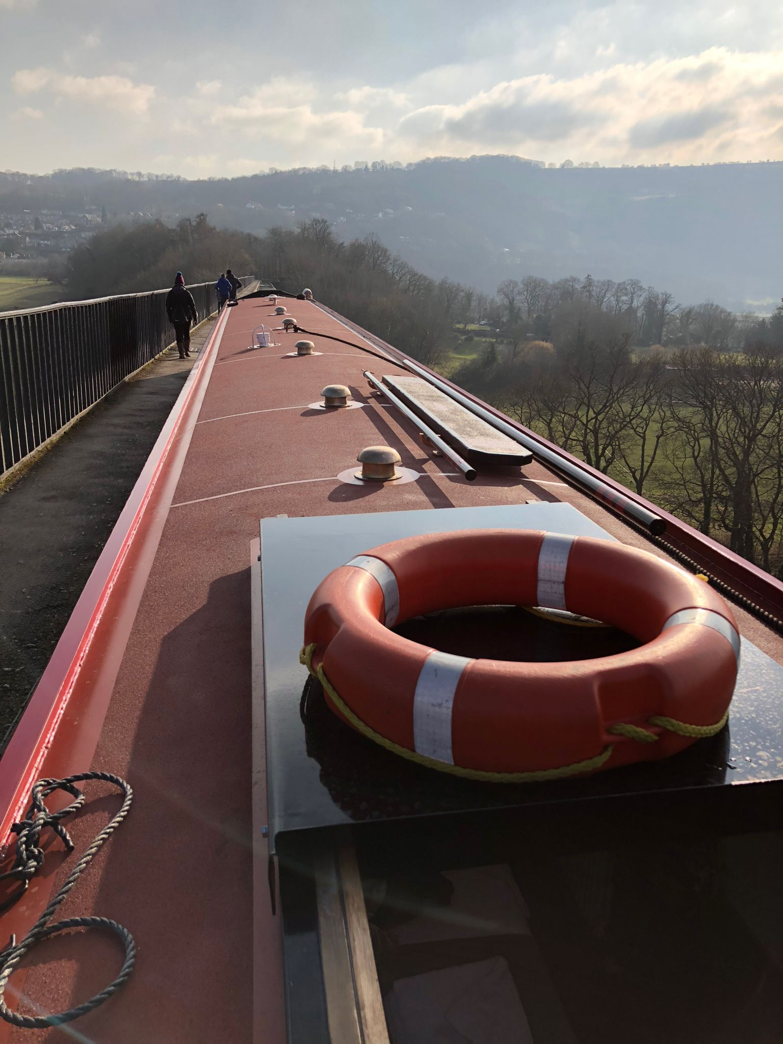 Sweeping views from the Pontcysyllte Aqueduct.