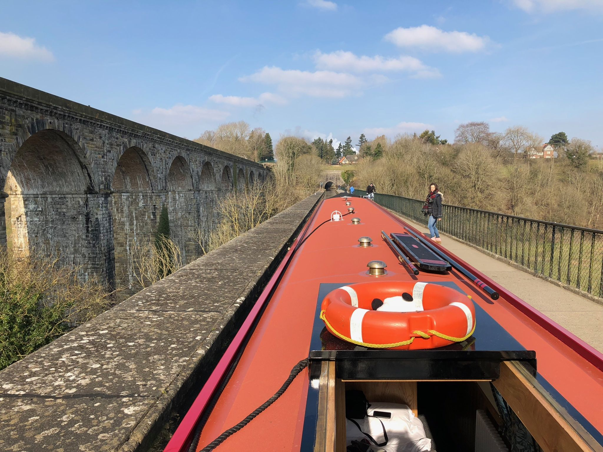 Canal boat holidays highlight: crossing the Pontcysyllte Aqueduct
