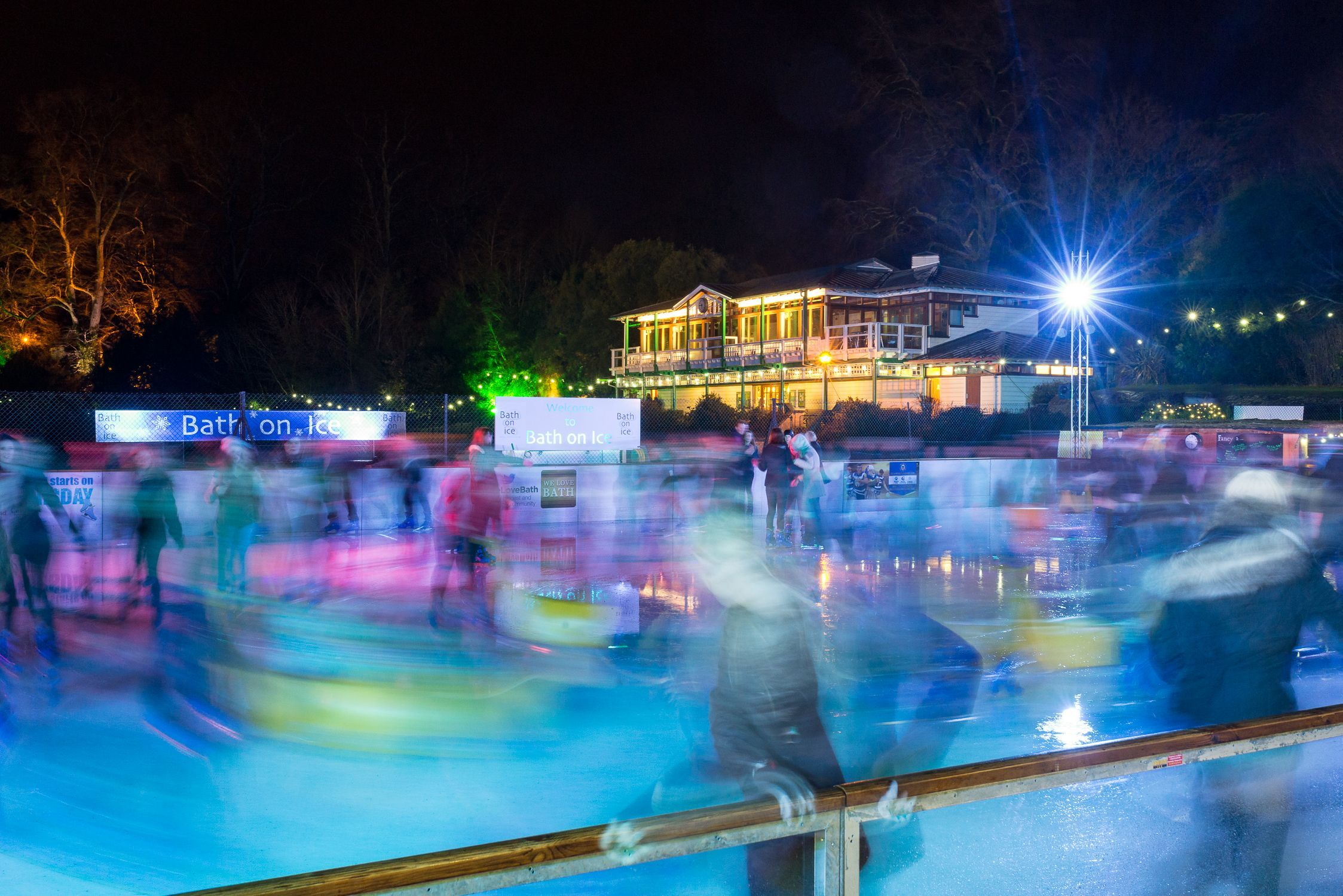 Bath on Ice is a fun way to spend an evening if you are planning Christmas in Bath