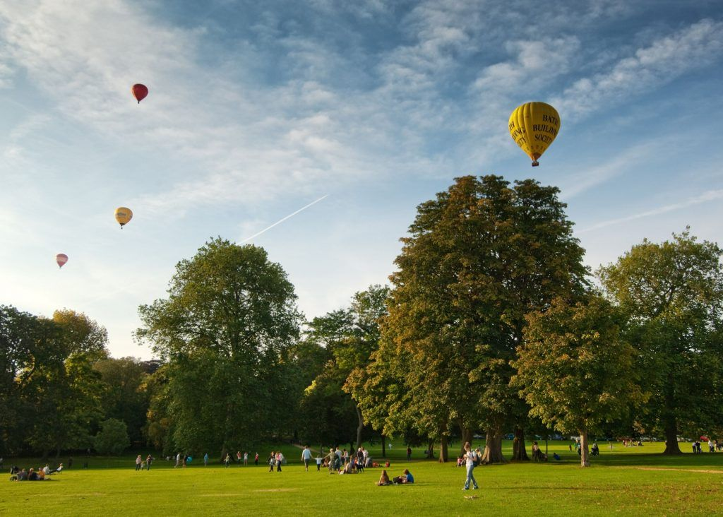 Bath in summer: The Royal Victoria Park is a popular spot