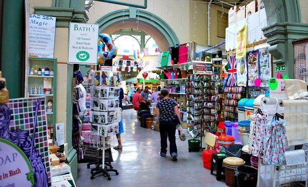 Bath Guildhall Market: the oldest shopping venue in Bath.