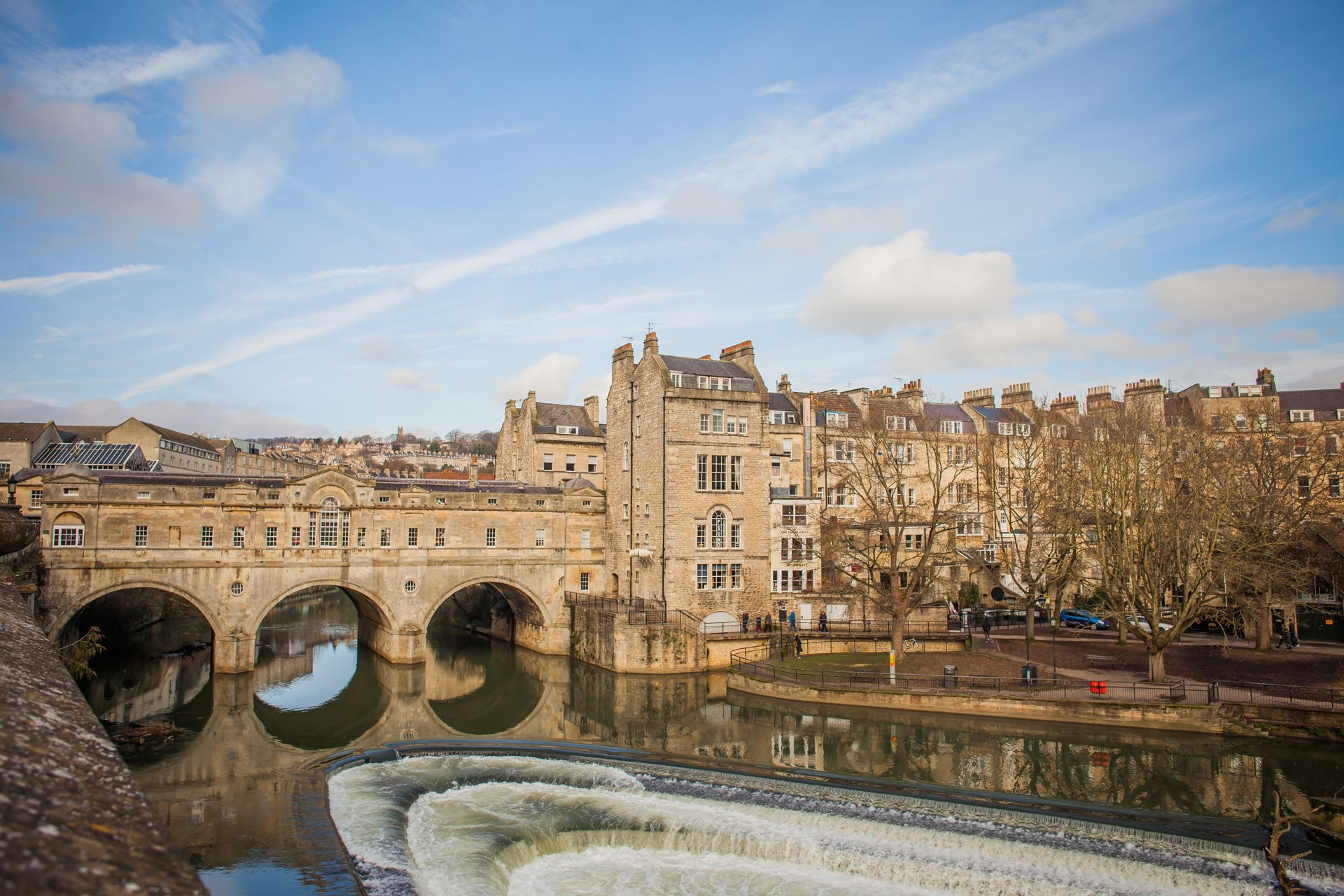 Bath city break: Pulteney Bridge and the River Avon weir