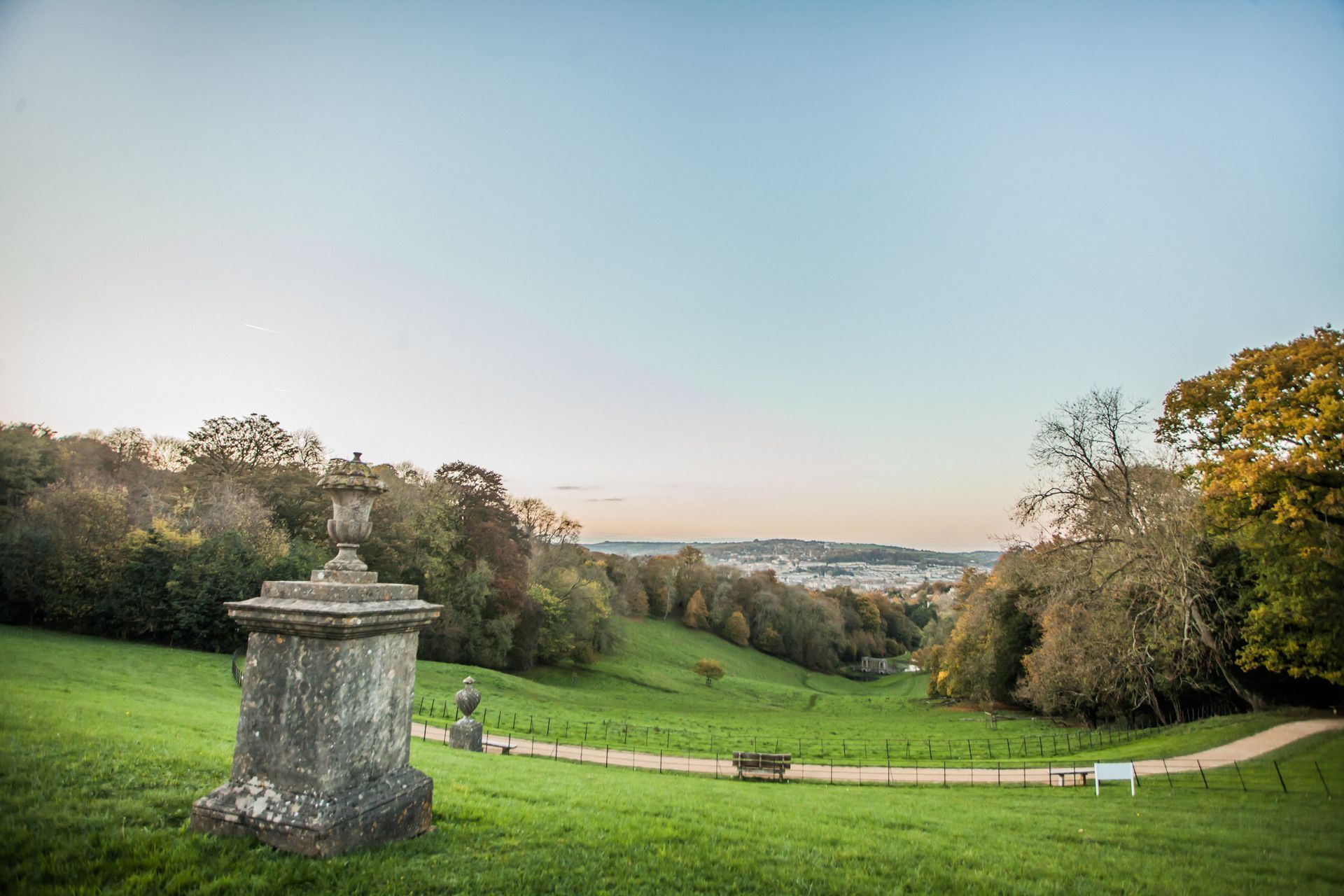 Bath city break: Prior Park Landscape Gardens looking down on the city centre