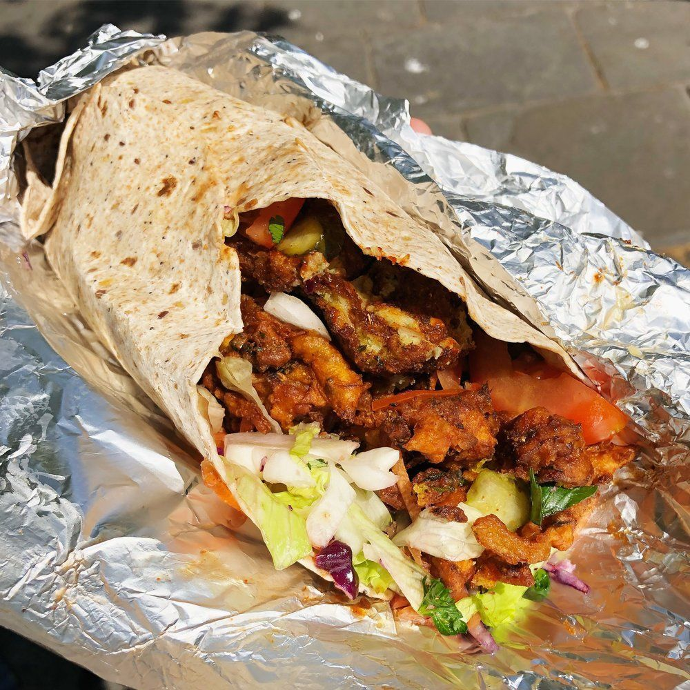 Vegetarian restaurants in Bath: Chai Walla's wraps are among the best you'll find.