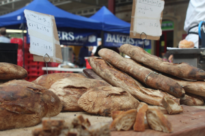 Sourdough bread and others treats at Bath Farmers Market