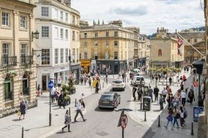 Head to Milsom Street to upmarket brands when shopping in Bath